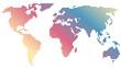 Regenbogen-Weltkarte