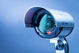 Security CCTV camera in office building - 87791698