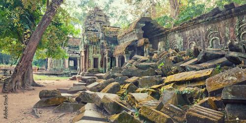 Ta Prohm Temple ancient ruins, Angkor Poster