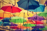 Fototapety Colorful Umbrellas