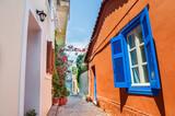 Fototapety Beautiful street in Athens, Greece