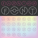 Fashion Font vector Creative Design glamour style...ABC Alphabet - 87848001