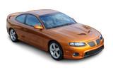 Orange American Sports Coupe
