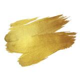 Fototapety Gold Shining Paint Stain Hand Drawn Illustration