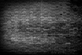 Fototapety Black and white Background of brick wall