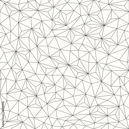 fototapeta na ścianę Triangles background, seamless pattern, line design