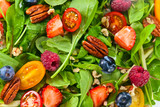 Fototapety vegan salad with berries and nuts