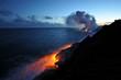 Постер, плакат: Лава на берегу океана Гавайи