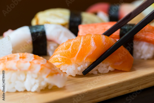 Sushi set, Japanese food Poster