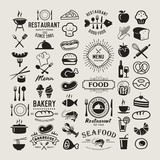 Fototapety Food vintage design elements, logos, badges, labels, icons and objects