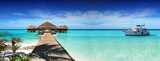 Maldives, dream trip, beautiful, sunny, exotic vacations. Resting on a yacht - 87942402