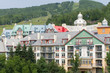 Colourful houses at Mont Tremblant in summer