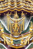 Garuda on the roof of Grand palace Thailand