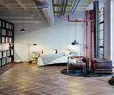 Schlafzimmer in Industrie Loft - Bedroom in old Industrial Loft