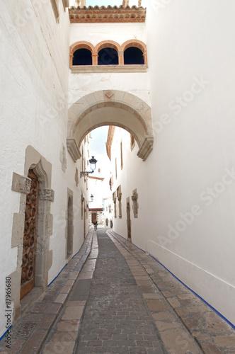 Obraz Old street in Sitges ,Catalonia,Spain