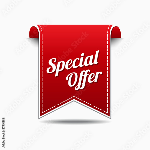 Special Offer Red Vector Icon