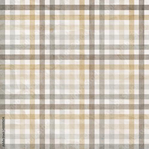 Naklejka textile plaid background in beige, grey, white