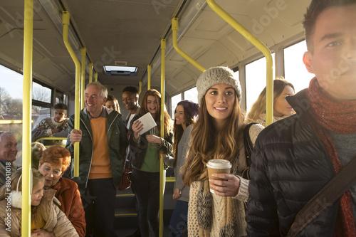 Fototapeta People on the bus