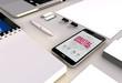 digital marketing smartphone office