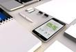 online marketing smartphone office