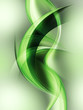 Abstract Green Wave Composition