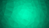 Emerald green abstract polygonal geometric background. Low poly