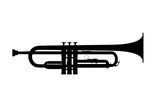 Fototapety Silhouette of trumpet
