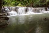 Huay Mae Kamin Waterfall in Khuean Srinagarindra National Park, Kanchanaburi Province. Thailand