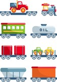 Set of toys railway in a flat style. - 88073089