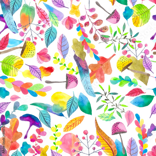 Materiał do szycia Watercolor seamless floral pattern