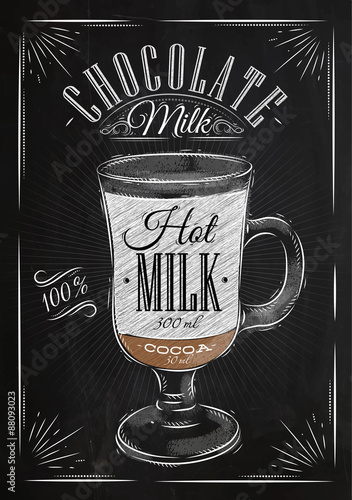 Poster chocolate milk chalk