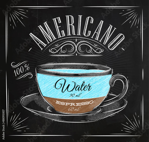 Poster Poster americano chalk