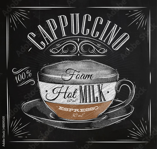Poster Poster cappuccino chalk
