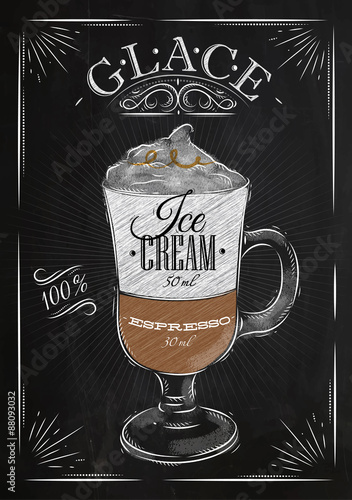 Poster Poster glace chalk
