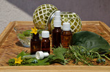 Homeopathy remedies bottles