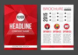 Fototapety Corporate business stationery brochure template with