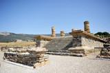 Templo de Júpiter, ciudad romana de Baelo Claudia, Tarifa, España poster