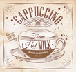 Poster cappuccino kraft