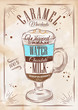 Poster caramel macchiato kraft