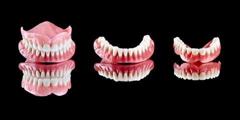 Prótesis dental superior e inferior