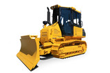 Yellow new tractor, industry engineering and construction