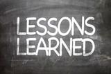Fototapety Lessons Learned written on a chalkboard