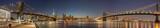Fototapety Panoramic View Manhattan Bridge, Brooklyn Bridge and Manhattan Skyline at night