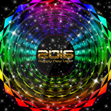New Year Multicolor Trance Backdrop poster