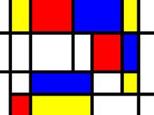 Mondrian styl tła