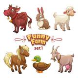 Funny farm illustration