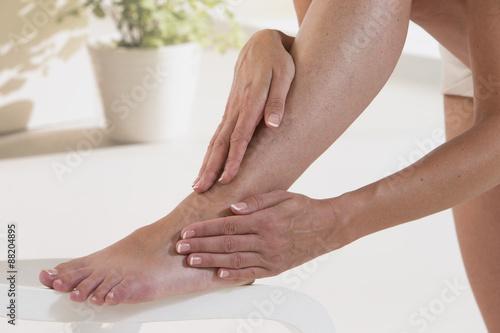 Massage pied Femme Poster