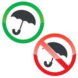 Umbrella permission signs set