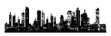 Fototapety Panorama picture of city skyline