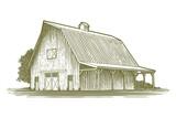 Woodcut Barn Icon - 88224083
